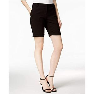 Kensie Folded Cuff Stretch Crepe Women's Shorts 12